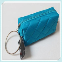 2015 Custom promotional quilt PU leather makeup pouch necessaries cosmetic bag