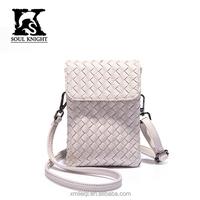 SK-4013 smart full grain girls shoulder bag messenger big with phone zipper pocket