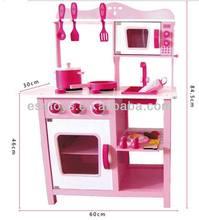 2015 neue holz spielküche, beliebten kinder spielzeug spielküche, heißer verkauf kinder set spielen Küche w10c045-2