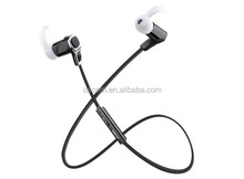Gym stereo bluetooth headsets with noise cancellation Earbuds with Mic and Hands Free calling for Iphone6 and Android with APT-X