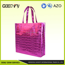 China suppliers High quality recycle spunbond pp non woven laser lamination tote shopping handle bag with gravure printing