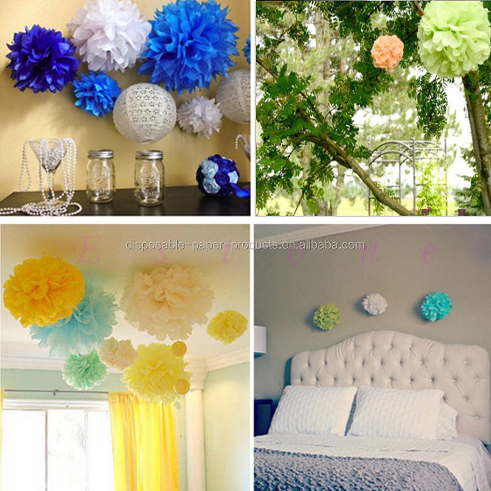 Pink Theme Party Ideas Tissue Paper Pom Poms Honeycomb Balls Paper