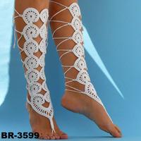 Pure Handmade Crochet Foot Chain Women's Dance Yoga Anklet Jewelry