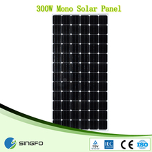 Monocrystalline Silicon Material and 156x156mm Size 12V 300W Solar Panel