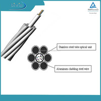 Central Stainless Steel Tube OPGW Ground Wire Power Supply Cable