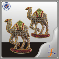 Rhinestone Camel Design 3D Badge
