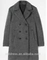 100% de la cachemira, Doble de pecho gris hechas a medida para hombre de la capa para el invierno