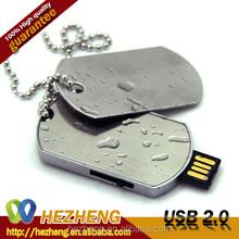 Dog Tag USB Flash Drive 8GB necklace pendrive wholesale