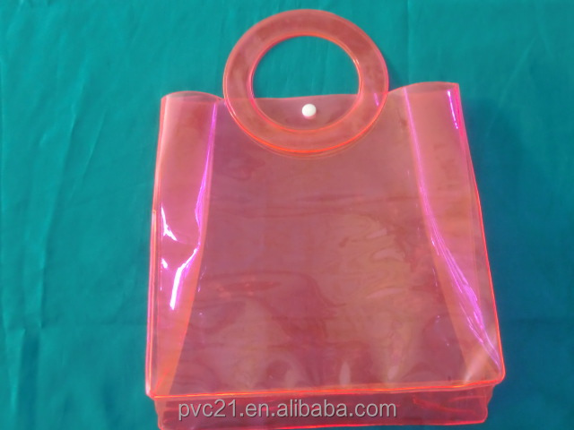 Dongguan Top Quality Colorful PVC Tote Bag alibaba China