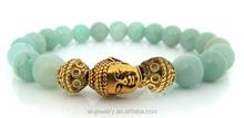 fashion elastic jade beaded buddhist bracelet