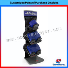 China online shopping wooden pos display shelf for machine