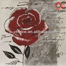 Abstract simple design oil painting rose flowers