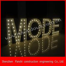 Led frontlit energy saving flashing sign letters