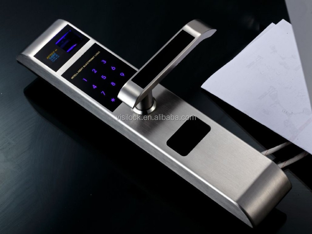 2015 security residential door fingerprint biometic lock for 1 touch fingerprint door lock