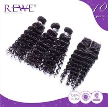Custom Shape Printed 2 Year Warranty French Deep Wave Premium Now Human Hair Extension