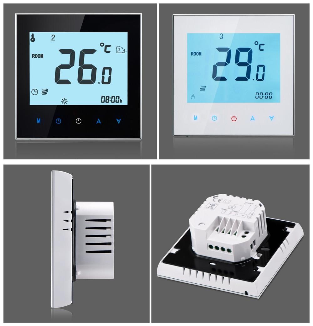 Termostato de ambiente para suelo radiante pantalla - Termostato para calefaccion ...