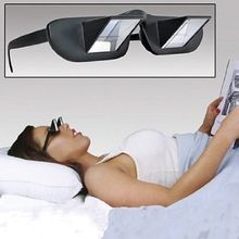 Prism bed specs laying In TV book reading glasses periscope eyeglasses prizm