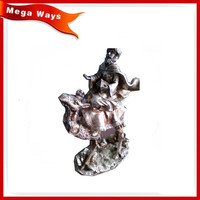 Table figurine decoration golden resin jesus