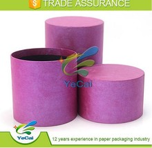 Luxury special paper mounted candle storage box packaging