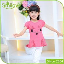2015 children casual clothes cool tops baby fashion t shirts 100 cotton girls t shirts printed designs