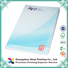 Cheap wholesale bulk custom printed spiral notebook with color pages