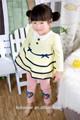 Primavera elegante ropa de los niños botón decorativo tela de la falda del bebé con encaje azul