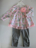 Lovely baby girl 100% cotton comfortable and beautiful baby clothes set