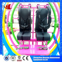 electrical funfair ride games 3d space ring human gyroscope for sale