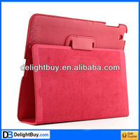 red Stylish Ultra Thin Magnetic Smart Leather Case Cover w/ Stand Function for iPad2