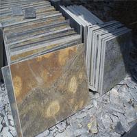 Hot sales Net paste grey slates stone ,yellow slate for sales,wall decoration slates