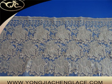 White and many color type milk silk material Bengal lace textiles trim(YJC90034)
