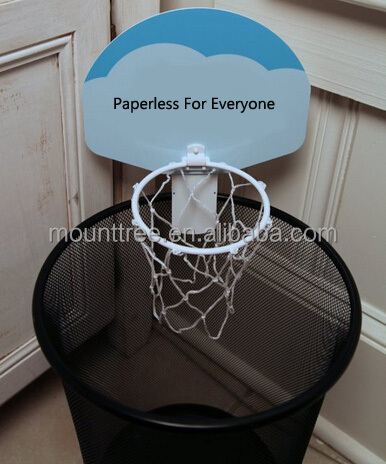 Basketball Trash Can Hoop Toy Office Game View Basketball