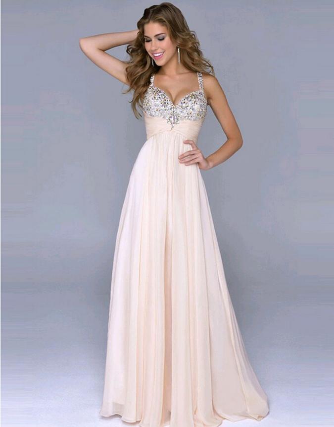 Hot Style Sweet Backless Dress Deep V Condole Chiffon Dress Sequined ...