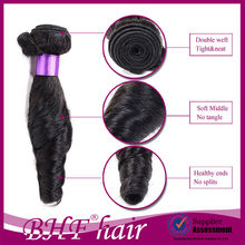 romance curl brazilian virgin natural color unprocessed 100% remy human hair weft