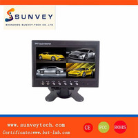 """Headrest 7"""" Car Reverse 4 Channel Quad Color Video Rear View TFT LCD Monitor"""