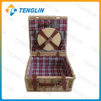 gift basket willow picnic basket for gift