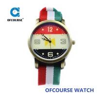 Hot Sale Women Colorful Handmade Nylon Fabric Wrist Watches