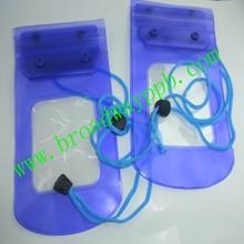 logo custom cell phone waterproof PVC plastic pouch for swinmming/divining