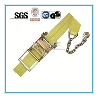 Cargo Lashing Belt, Ratchet Tie Down Strap with Anchors