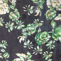 New hot selling printed fabric for women garment,rose printed polyester fabric
