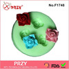 2015 hotsale mini flower gum paste silicone fondant mold