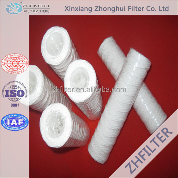 30 Inch String Wound Water Filter Cartridge For Water Treatment