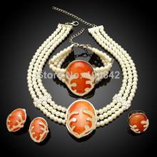 bisutería perla conjunto/semi- precioso piedra joyería conjunto
