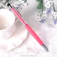 Promotional pen customized logo New luxury Promotion Pink Crystal Pen