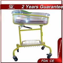 LG-BB301 Metal frame clear arcylic basin hospital new born bed