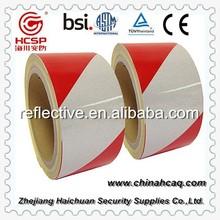 Red and white slant stripe reflective marking tape, hazard warning reflective film