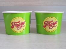 Biodegradable Custom Disposable Paper Frozen Yogurt Cup/Paper Ice Cream Cup