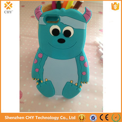 Fashion Cartoon 3D Cute Silicone Animal Soft Cover Case For iphone 5 5s