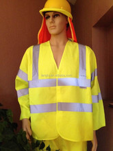 Man long sleeve high visibility safety vest with 4 reflective tape