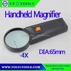 Manufacture 4X Dia 65mm Handheld Magnifier ,Cheap Handheld Magnifier . Gift handheld Magnifier Customized Logo